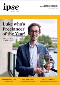 UK Freelancer of the Year IPSE magazine cover