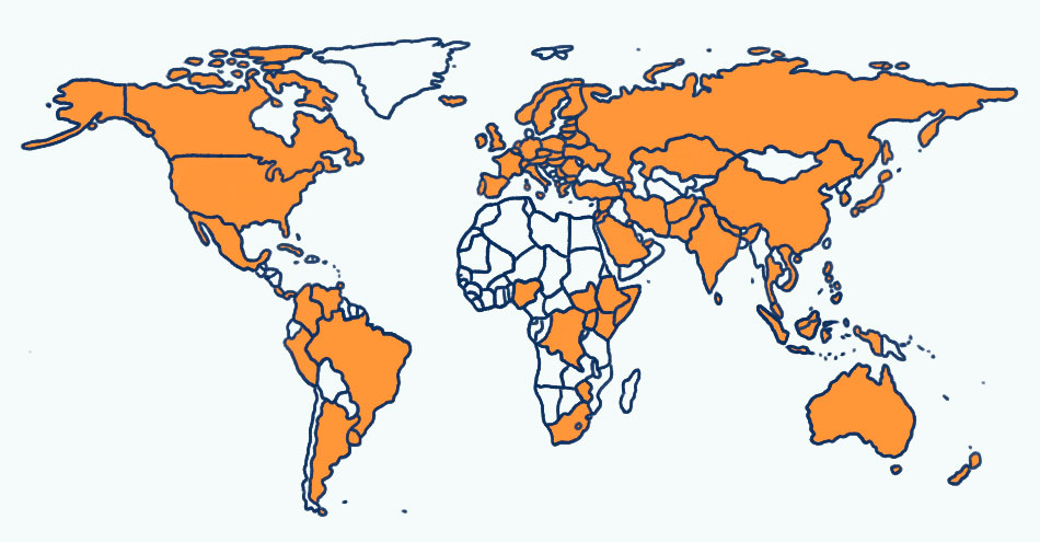 Countries I've taught