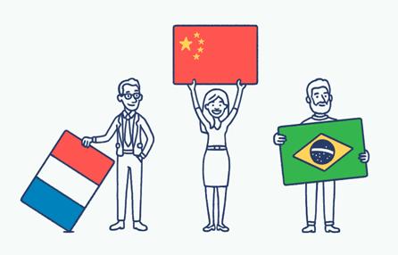 designed for different languages